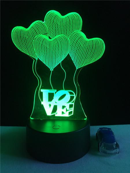 Decor Acrylic Elegantart228 Four Lamp 3d From Light Girl Love Control Led Night Remote For Uk 2019 Touch Sensor Bedroom Hearts Nightlight yvwOmN80n