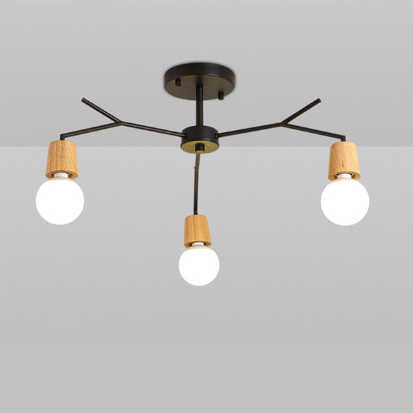 3 Heads Iron Chandeliers lamp body 15w simple and elegant design Support humanization for reading room children room living