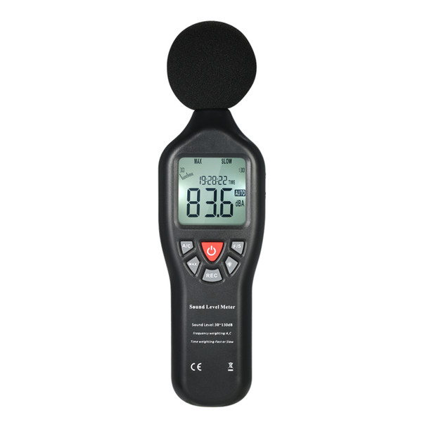 30-130dBA decibel meter LCD Digital Sound Level Meter Noise Measuring Instrument Decibel Monitoring Tester Data Logging Func