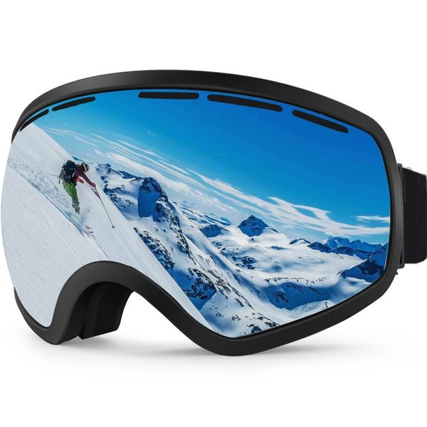 131d55bcc1ed Ski Goggles OTG Snowboarding Goggles for Women and Men Wide Angle Anti-Fog  Detachable Dual