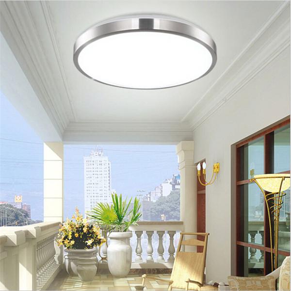 Moderna iluminación de techo LED lámparas de montaje superficial balcón dormitorio sala de estar 18w 24w 30w 36w 40w 48w AC110V AC220V lámpara de techo