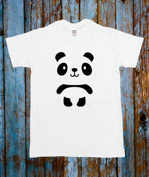 Compre Panda Bonito Animal T Celeb Camisa Top Preto Branco Blogger
