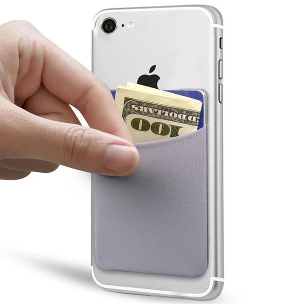 Elastic Lycra Card Holder Cell Phone Wallet Case Ultra-slim Self Adhesive Credit Card Wallets for Smartphones