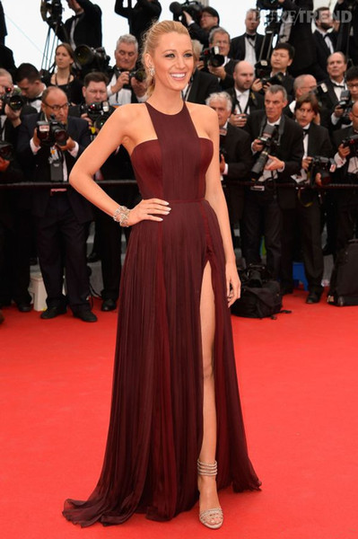 Vnaix P2040 Most Popular Marsala Elegant Halter Strapless Chiffon Side Slit Sexy Long Formal Star Prom Dresses 2018