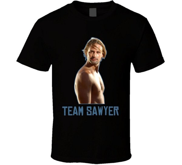2018 Latest Funny Men Crew Neck T-Shirt Bandit Sawyer Lost Tv Series T Shirt Hot Sale Casual Clothing