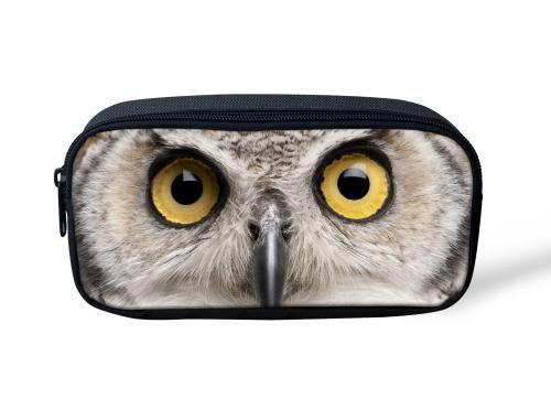 ELVISWORDS 3D Printing Owl Eyes Cosmetic Makeup Bags for Women Toiletry Beauty Case Pouch Travel Organizer Maleta De Maquiagem