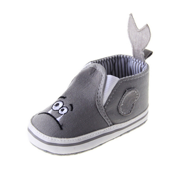 Cute Baby Toddler infant Boy Girl Kid Soft Sole Prewalker Crib Shoes 0-18 Month gray lovely wild features personality stylish