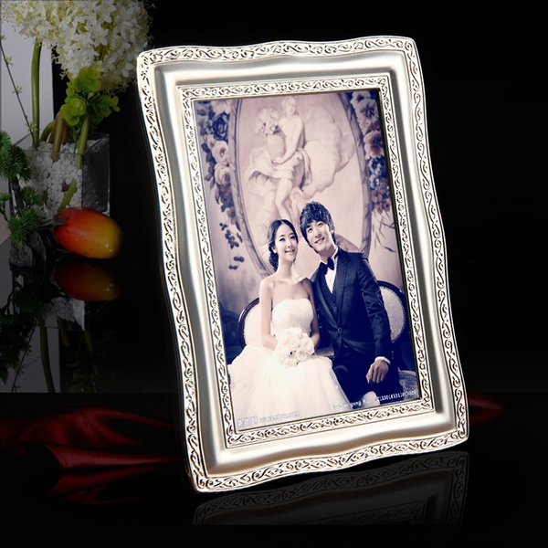 Creative Desktop and Wall Mounted Luxury Silver Plated Metal Photo Frame Picture Frames MPF015