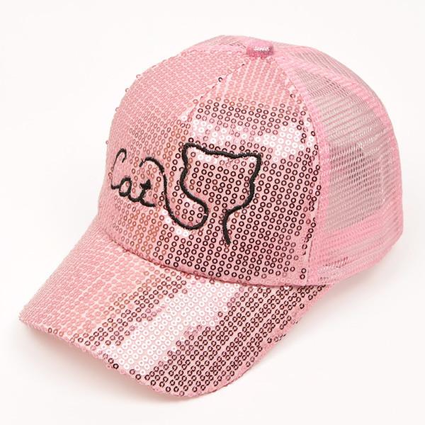 New Fashion Style Hot Sequins Hats Kids Snapback Baseball Cap Funny Net Beach Hats Spring Summer Hip Hop Boy Girl Caps 3-8y