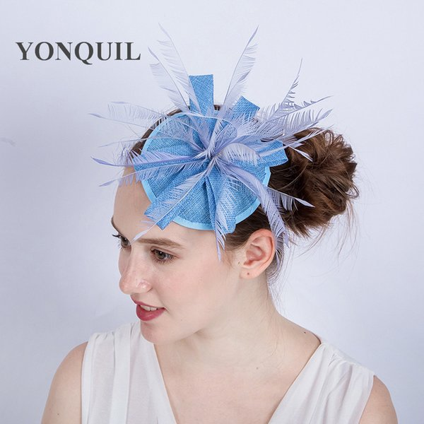 NEW Attractive beautiful Bridal imitation Sinamay Fascinator headwear Event Occasion Hat for Kentucky Derby Church Wedding Party Race SYF137