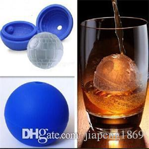 2015 New Delicate Silicone Round Ice Cube Household Ice Cream Mold Moulds Blue