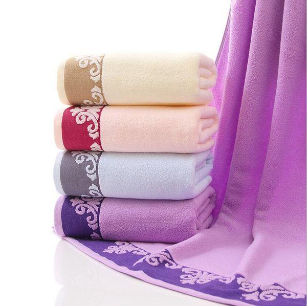 70X140cm 100% Cotton Bath Towel Absorbent Swimming Floral Beach Towels Cotton Serviette De Plage Grande Taille Bath Towel