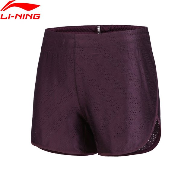 Pantaloncini da running da donna Regular Fit 68% Polyester 32% Spandex LiNing Comfort Pantaloncini sportivi traspiranti AKYN038