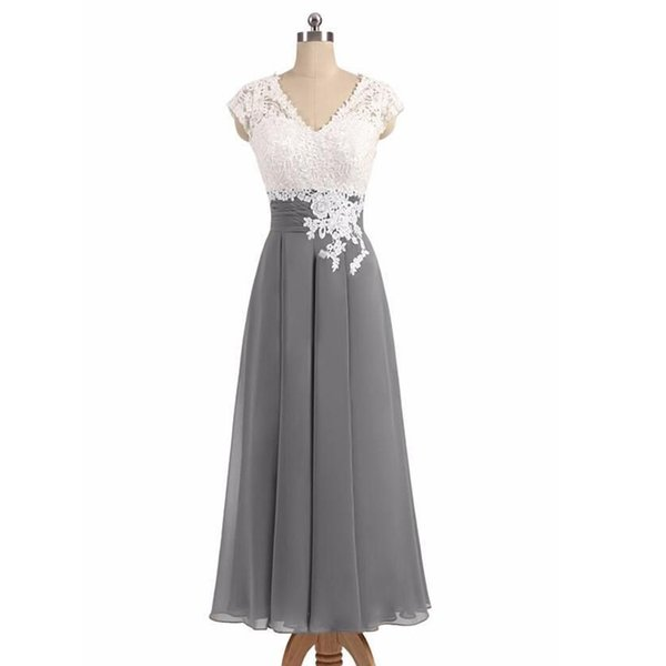 2019 Newest Short Mother Of The Bride Dresses Chiffon Knee Length Mother Bride Dresses Short Prom Dresses