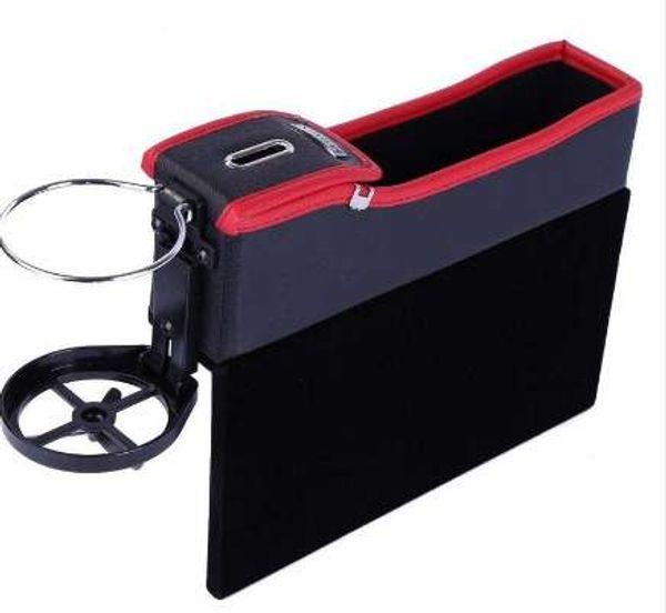 Großhandel Auto Seat Lücke Aufbewahrungsbox Retractable Modus Halterung Für Getränke Racks Handys Zigaretten Visitenkarten Schlüssel Auto Cup Holder