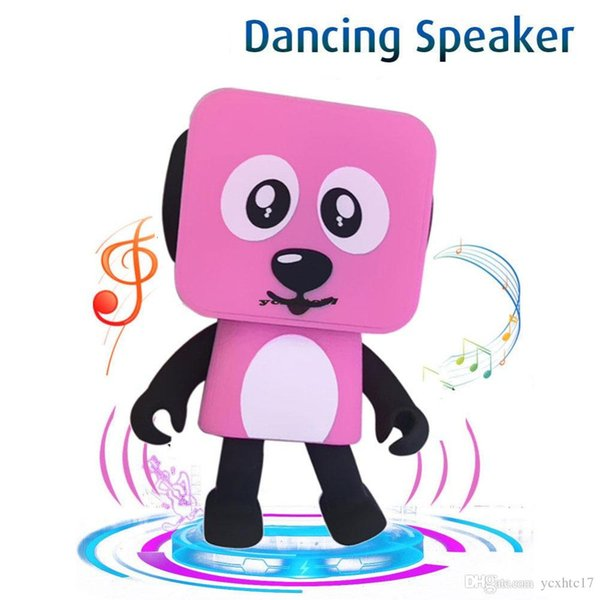 Small Square Dancing Robot Dog Wireless Bluetooth Stereo Loudspeaker Box Sound Bass Music Speaker