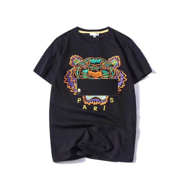 Summer Designer T Shirts Mens Tops Tiger Head Letter Embroidery T Shirt Mens Clothing Brand Short Sleeve Tshirt Women Tops S-2XL