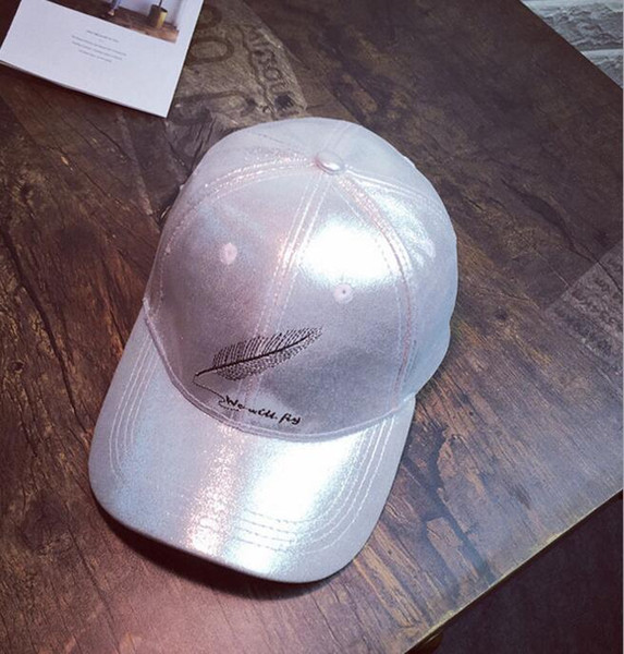 1fc47ad10 2019 Baseball Caps Fall And Winter Weather Men And Women Bright Velvet  Embroidered Feather Patterns Duck Caps Casual Masque Sun Hat Hip Hop Hats  From ...