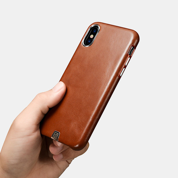wholesale Brand for iPhone X/XS Case Vintage Genuine Leather Phone cases for iPhone X/XS Case Transformer Ultra thin Back Cover