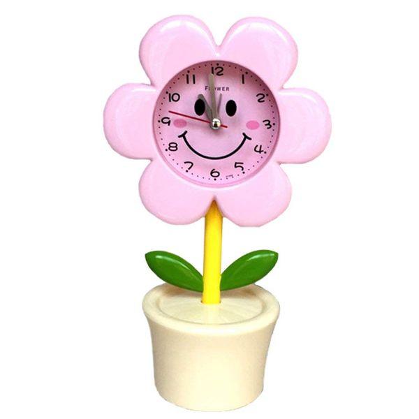 Acheter Réveil Fleur Créatif Mettre En Sourdine Le Réveil Au Chevet Du Dessin Animé Pour Enfants électroniques Couleur Rose A De 3153 Du Gcz1688