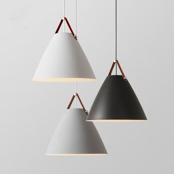 Modern Luzes Pingente de Ferro Estilo Nórdico luzes penduradas para Cozinha Sala de estar Sala de Jantar luminária pendular luminária suspensão