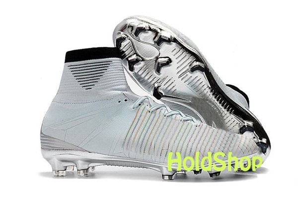 size 40 bce7d b554c 2019 2019 New Mens Soccer Cleats Mercurial Superfly V SX Neymar FG Soccer  Boots Mercurial Superfly V CR7 FG Men Football Boots High Ankle Shoes From  ...