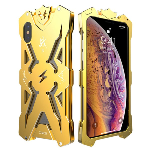 New Hot SIMON THOR Metal Bumper Shockproof Case Slim Cover High Quality Aviation Aluminum Phone Case For iPhone X XS XR XS MAX