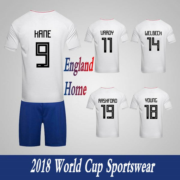 Men's Tracksuits England National Team Home Football Sport Suits 2018 World Cup Soccer Uniform Clothes Shorts