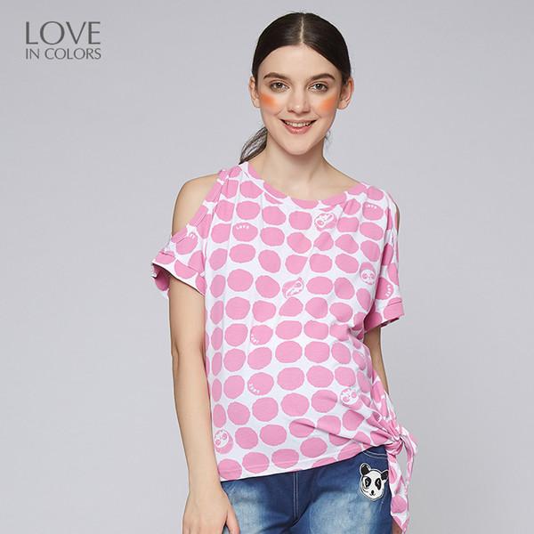 Compre Loveincolors Panda Y Dot Camiseta De Impresión Para Mujeres ...