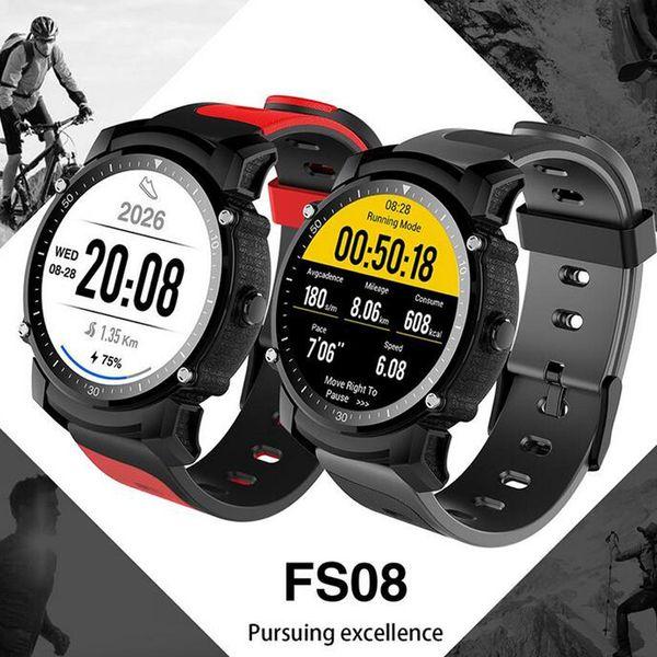 Yeni yayınlandı FS08 Bluetooth Akıllı Izle Su Geçirmez IP68 Yüzmek GPS Spor Fitnes Tracker Kronometre Kalp Hızı Monitörü Kol 10 adet