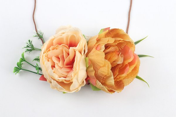 Orange + champagne (big peony flower)
