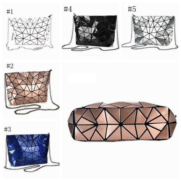 Mulheres Designer sacos mulher Rhombus Clutch Bag Geometric Malha cadeia de bolsas menina Crossbody Bag Moda ombro sacos Makeup Organizer WWY1016