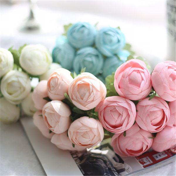 Canlı Yapay Çiçek Gerçek Dokunmatik Ipek Ranunculus Asiaticus Düğün Çiçek Buketi Çiçekler Ev Partisi ve Dekorasyon için