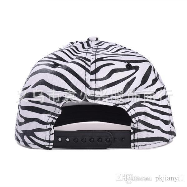 South Korea trend of men and women zebra hat flat -brimmed hat hiphop hip hop bboy hat baseball cap