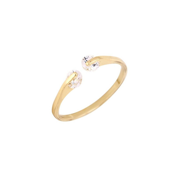 Ruby Diamond Star Wedding Ring Trendy Geometric Open Simple Engagement cut Rings Fine Jewelry for Woman jl-355