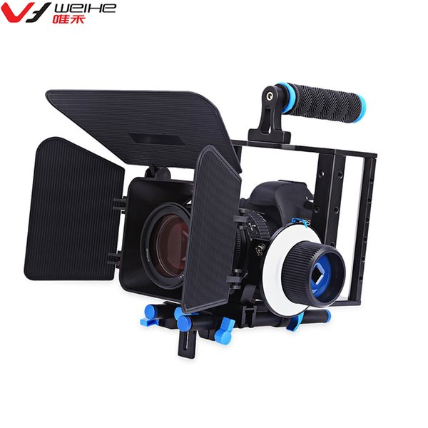 vendita all'ingrosso lega di alluminio video camera gabbia seguire kit di messa a fuoco con scatola opaca per Sony Nikon Canon DSLR Camera Camcorder