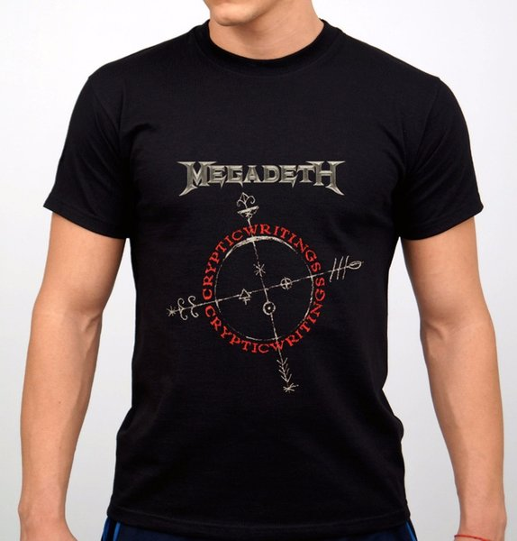 Adult 100% Cotton Customized Tees Megadeth Rock Band T-Shirt Black New O-Neck Short Sleeve Best Friend Shirts For Men