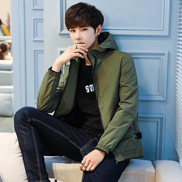 Compre Nuevo Hombre Chaqueta Para Moda De 2018 Casual Para Gratis Otoño Sección Salvaje Moda Coreana Hombre Delgada Abrigo Chaqueta 5421 Envío A PkXiZu