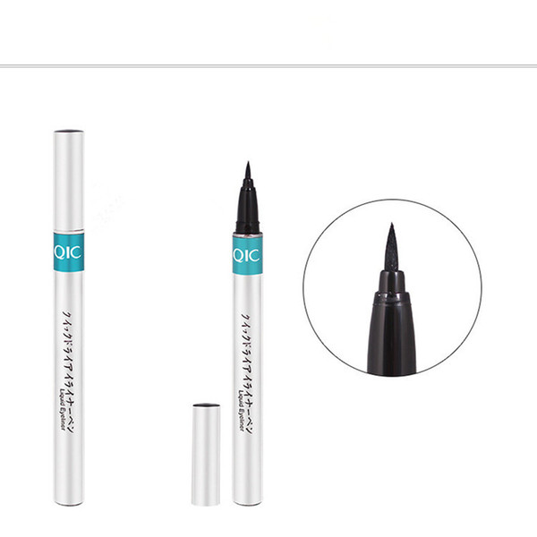 Dropshipping QIC Marke Silber Tube Extreme Liquid Black Eyeliner Wasserdichte Make-Up Beauty Eye Liner Bleistift Stift Makeup Tools