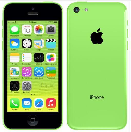 Original Unlocked Apple iPhone 5C IOS GPS WIFI Dual Core 4.0'' 8GB/16GB/32GB Refurbished cellphone