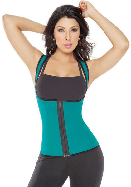 Womens Slimming Vest Sport Ultra Sweat Gym en néoprène Gym Fitness taille formation avec fermeture à glissière