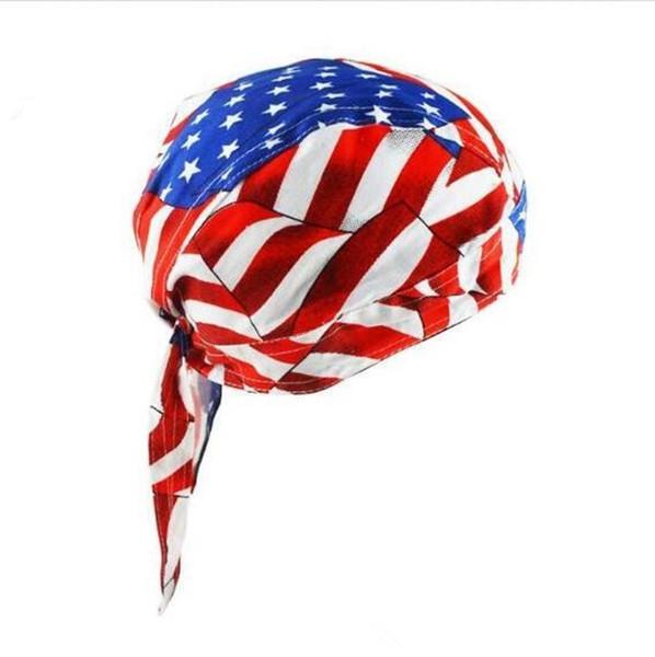 Drapeau américain Imprimer Bandana Headwrap Foulard Réglable Chapeau Chapeau Voyage Vélo Tête Écharpe 4 Styles 200pcs