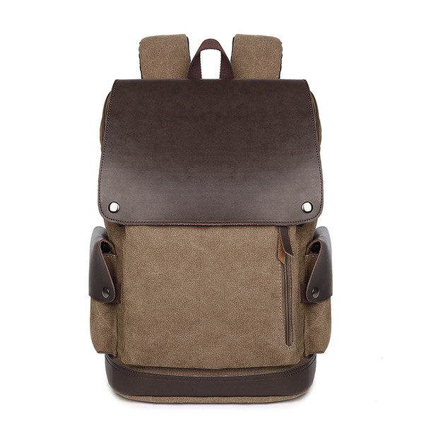 2018 new men backpack canvas travel laptop computer bags unisex school backpack student bag two colors free shipping