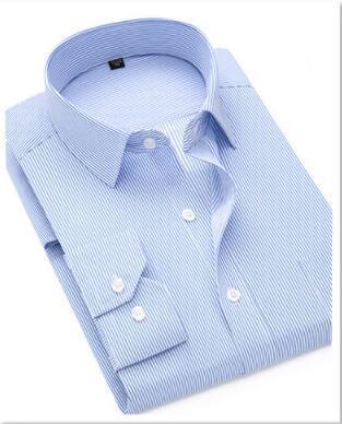 Весна и осень новые мужские рубашки с длинными рукавами отделка чистый цвет бизнес белая рубашка мужская хлопок-gzy-13