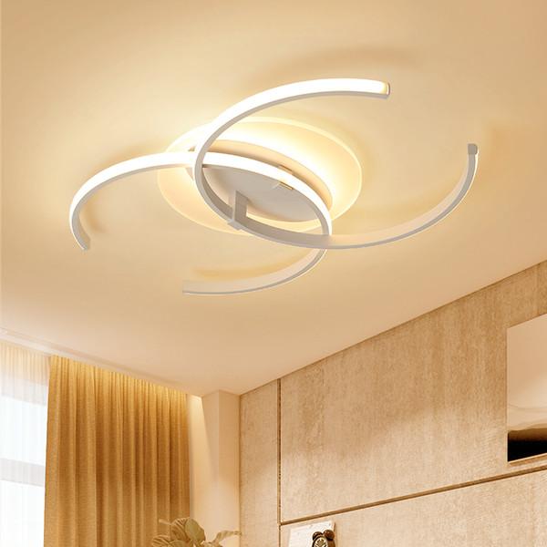 Luces llevadas modernas de aluminio + de acrílico de la lámpara para los accesorios de la lámpara de la lámpara del techo del interior del dormitorio de la sala de estar