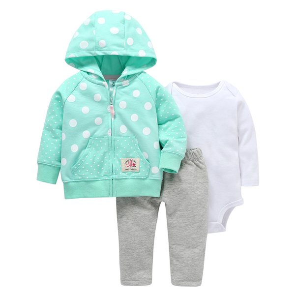 2018 Infant baby outfits / Winter outfits 3 pcs set / Bodysuit + Leggings + Jacket