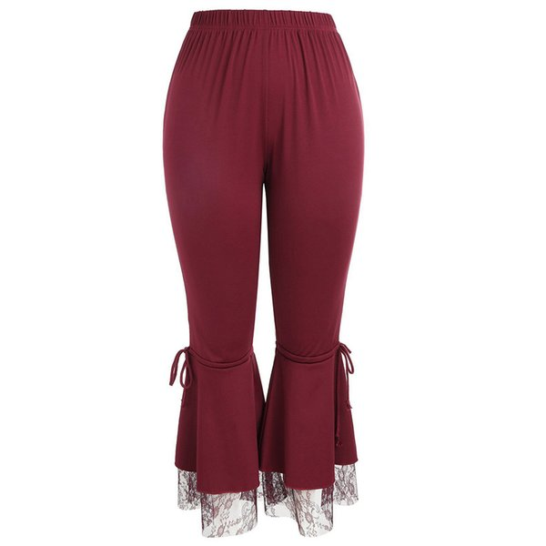 Reine farbe lose breites bein keucht frauen hohe taille flared hosen sexy yoga jogging femme pantalon # yl