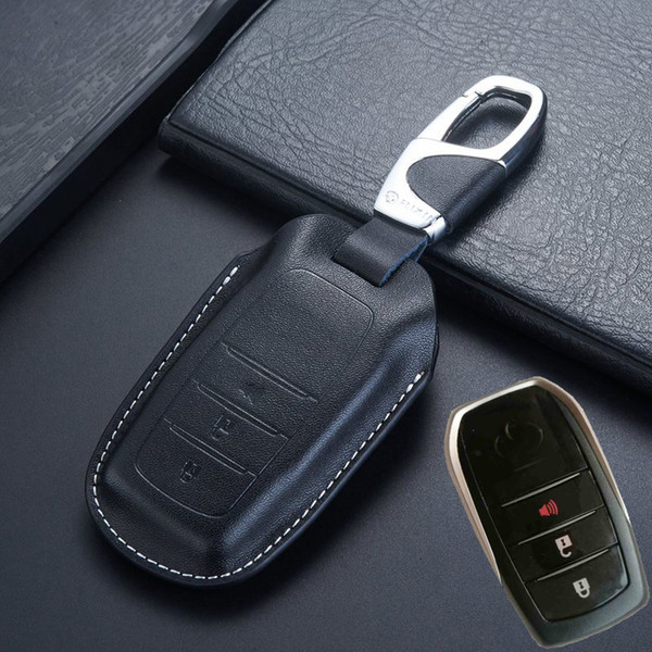 Keyless Entry Smart Remote Key Cover for Toyota 2018 Fortuner Innova Kijang Land Cruiser LC200 4000 4600 5700 Key Case Holder Accessories
