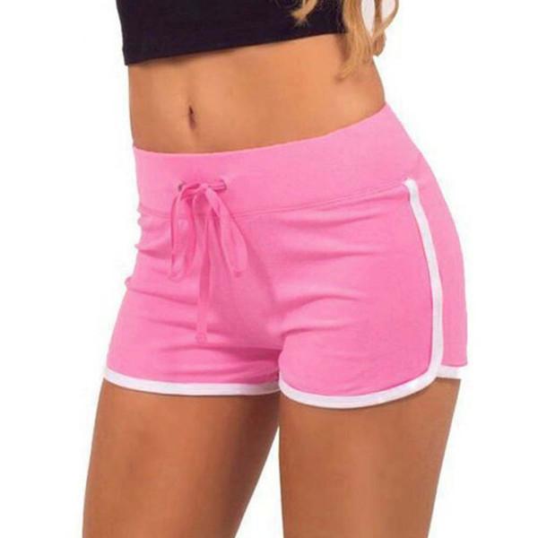Women Yoga Sports Shorts Cotton Blend Gym Homewear Fitness Pants Drawstring 5 Colors Beach Shorts Casual Running Pants
