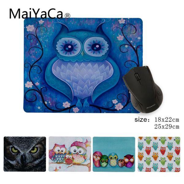 Babaite New Designs Eule Kunstdrucke Silikon-Pad zur Maus Spiel Gamer Speed Mäuse Einzelhandel Kleine Gummi-Mousepad